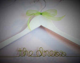 FREE GIFT - Personalized Wedding Dress Hanger with Ribbon, Mrs Hanger, Last name Hanger, High Quality
