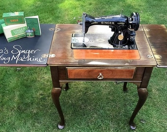 SOLD - Singer Sewing Machine, Antique Sewing Machine, Vintage Sewing Machine, Singer 15-90, Shabby Chic, Upcycled, Refinished