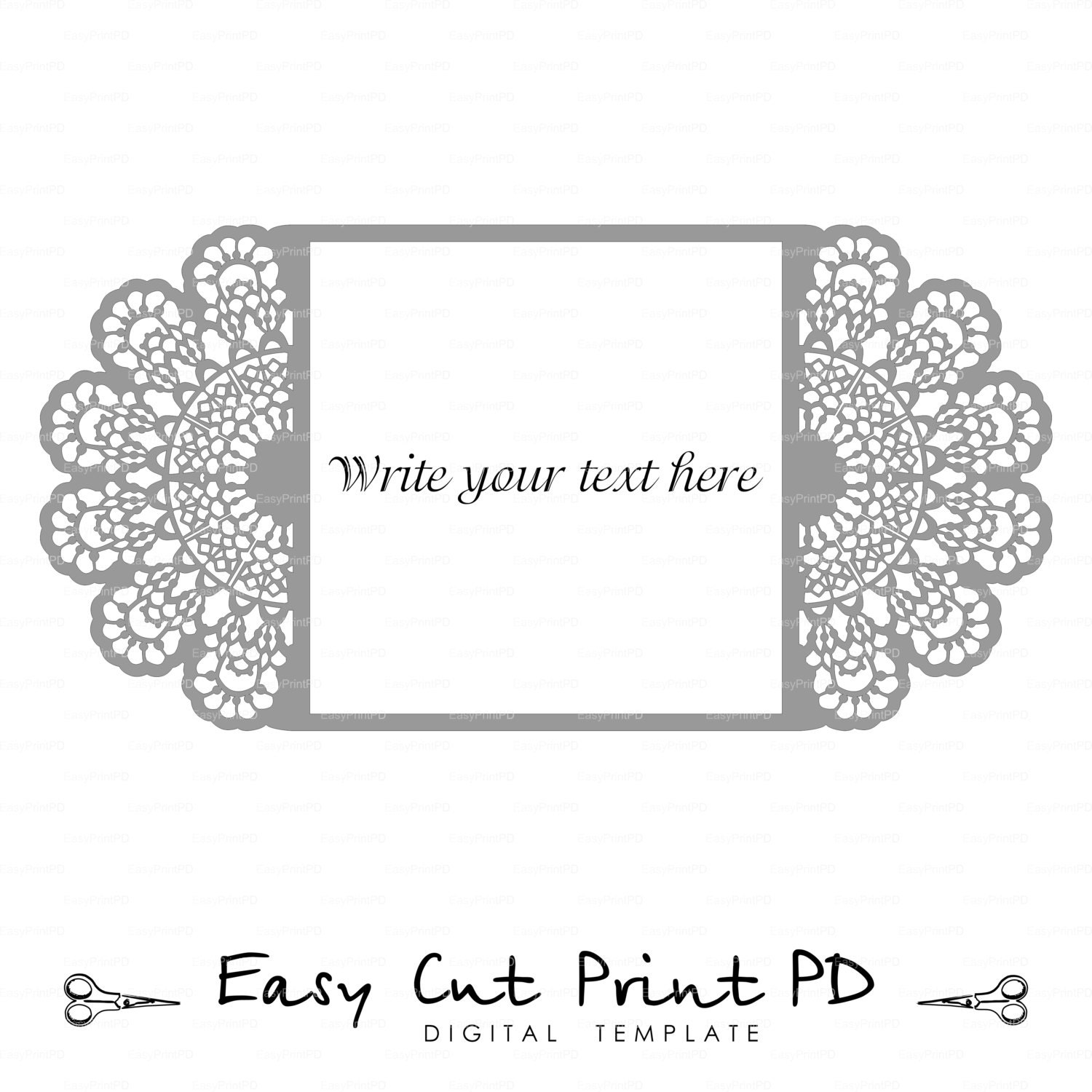 Crochet Wedding Invitations: Wedding Invitation Lace Crochet Doily Pattern Card Template