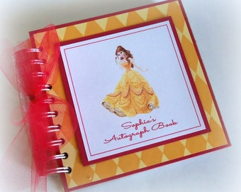 PERSONALIZED Disney Princess Inspired Autograph Book Scrapbook Travel Journal Vacation Photo Album
