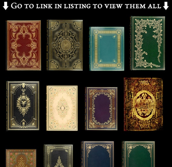 101 Decorative Book Covers: Book Digital Paper, Old Book Graphics ...