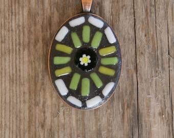 Mosaic Pendant-Wearable Art