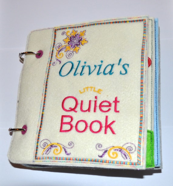 Complete Quiet Book Pages Machine Applique Embroidery By