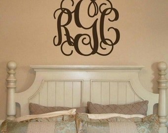 Vinyl Wall Monogram Decal