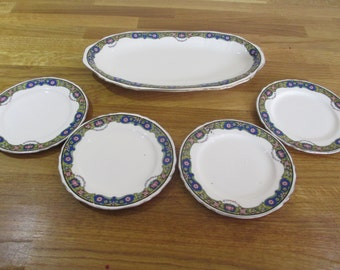 osiris shape alfred meakin sandwich plate set , afternnon tea, ref 4