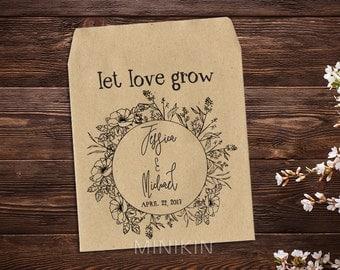 Seed Wedding Favors, Seed Packet, Wedding Seed Packet, Boho Wedding, Flower Seed Packet, Personalized, Wedding Favor, Rustic Wedding x 25