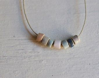 Necklace beads small cylindrical