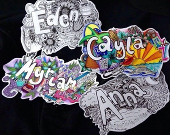 Personalised Name Signs (cute Christmas present!)