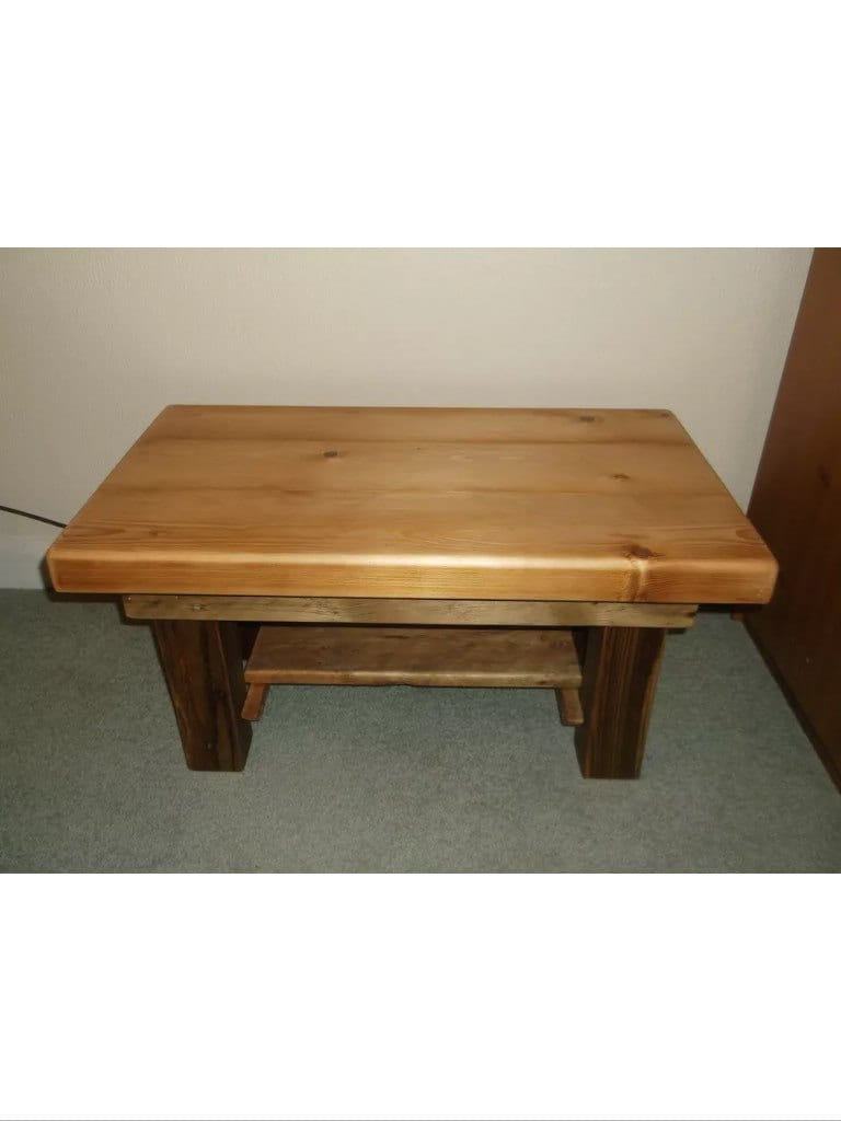 Chunky Driftwood Coffee Table Side Table