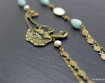 Long necklace, art deco, Julia