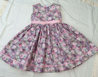 4-Year-Old Girl's Rose Print Party Dress