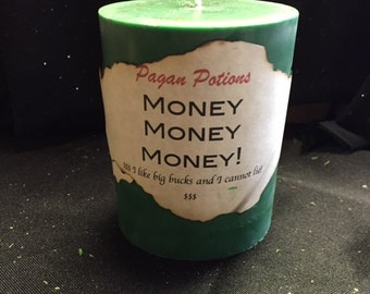 "Money Candle~ 3 X 5"" Pillar Candle"