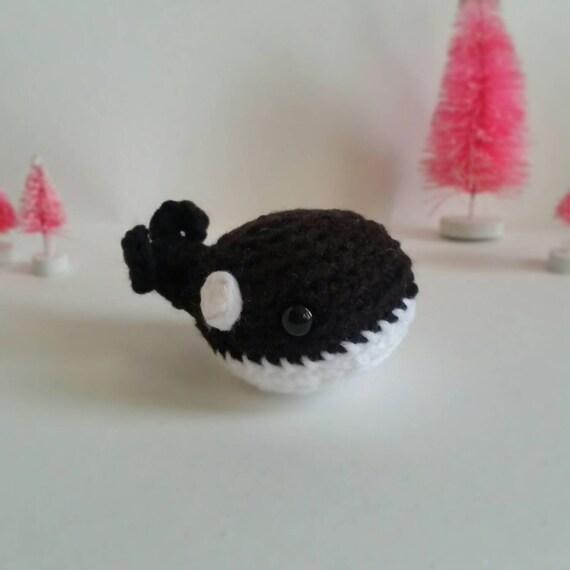 Amigurumi Orca Whale : Orca Whale Stuffed Animal Whale Amigurumi Mini Pet Ocean