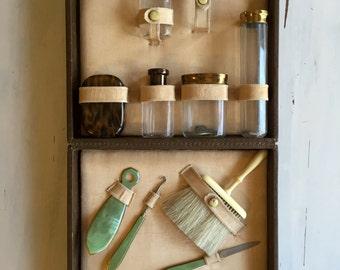 Vintage Travel Grooming Kit