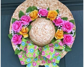 Cheery Floral Door Hat