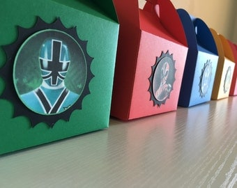 Power rangers samurai favor boxes (10pc)