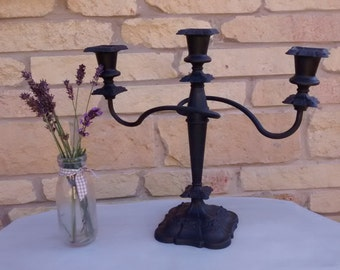Dramatic black candelabra