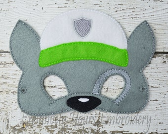 Recycling Dog Children's Mask Rocky inspired Paw Patrol inspired
