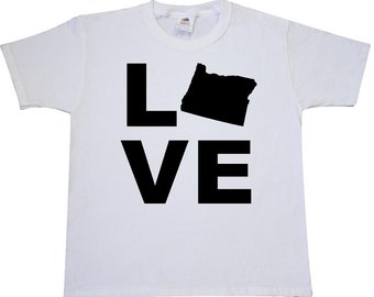 Love Oregon Youth T-Shirt by Inktastic