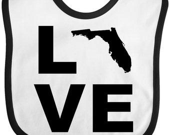 Love Florida Baby Bib by Inktastic