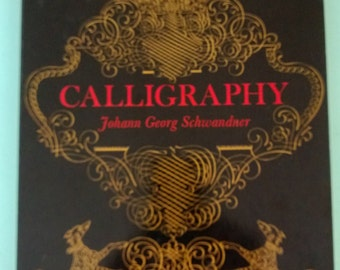 Calligraphy by Johann Georg Schwandner 1958 Free Shipping
