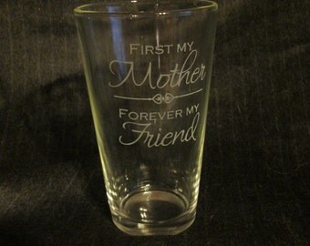 Mother's Pint Glass, Perfect Mother's Day Gift Idea