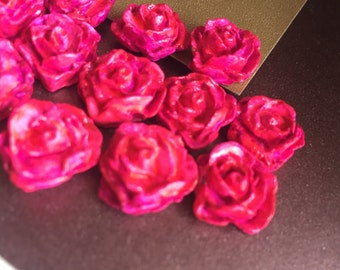 Clay Rose Cabochons (Pink)