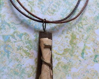 Birch Bark Pendant Necklace