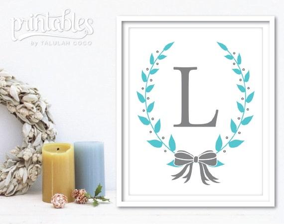 Nursery Letter Printable Baby Boy Nursery Decor Baby Name