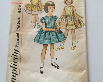 Vintage childs dress pattern