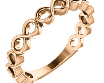14kt Yellow Infinity-Style Stackable Ring