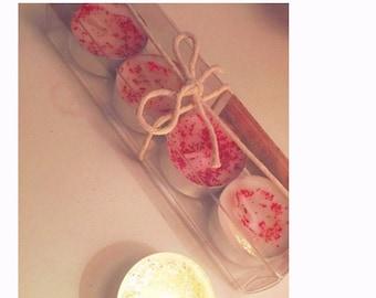 Pink Glitter Tea Light Candles (Box of 4)