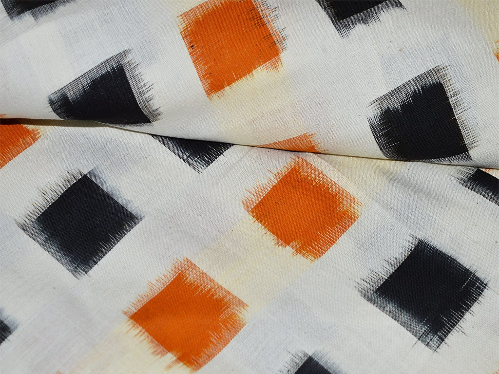 Handloom Ikat Cotton Fabric Ikat Fabric By The Yard For
