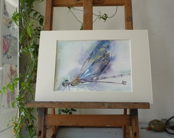Original Watercolour: Dragonfly