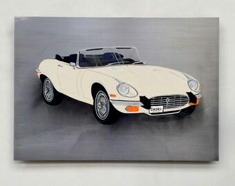Jaguar E-type painting on steel - Automotive
