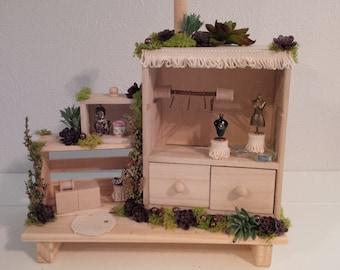 OOAK Fairy Dollhouse: Fairy Fine Boutique