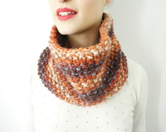 The Charisma Burnt Orange Cowl Infinity Scarf