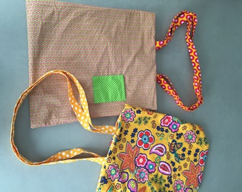 Colorful shopping bags of 2 sides to use! Shopper