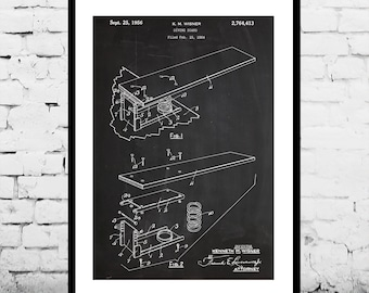 Diving Board Patent, Diving Board Poster, Diving Board Blueprint,  Diving Board Print, Diving Board Art, Diving Board Decor