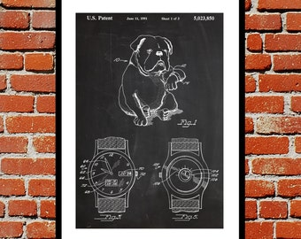 Novelty Dog Watch Patent, Dog Watch Poster, Dog Watch Blueprint,  Dog Watch Print, Dog Watch Art, Dog Watch Decor