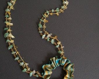 "Jade necklace citrine necklace jade-collection ""Spring"""