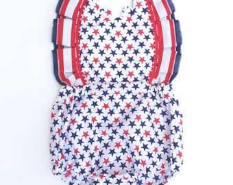 Miss Red, White & Blue Baby/Toddler Romper -SALE