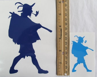 Vinyl Gamer RPG Car Window Decal Sticker Male Vagabond Traveler Wanderer Silhouette Role Playing Game Gaming D&D Dungeons Dragons