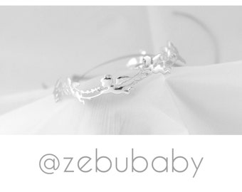 Newborn angel Tieback, newborn headband, newborn-adult, Photo prop, photography prop, ZeBu Baby, silver headband with angels