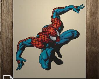 Spider-Man Cross Stitch Pattern INSTANT DOWNLOAD