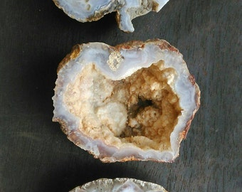 Natural agate geode half. Earth tones. You choose.