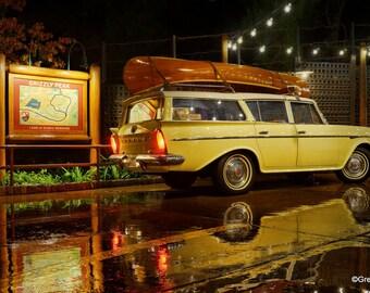 Disney California Adventure Grizzly Peak 50's Rambler Station Wagon, Metallic Paper  / Metal Print