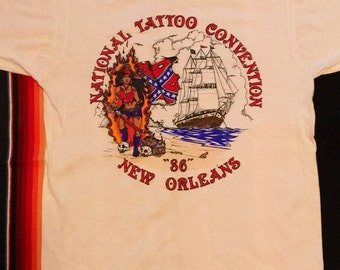 1986 National Tattoo Convention Single Stitch T-Shirt