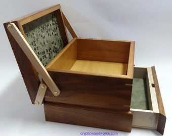 Jewelry / Keepsake Box with Spring Open Drawer - #8 of 12