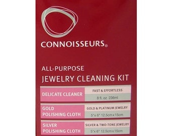 Connoisseurs Sterling Silver Jewelry Cleaner 8 oz,Dip Tray & Brush BRAND NEW 100% Authentic